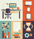 Freelance infographic. Stock Images