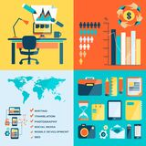Freelance infographic. Freelance infographic with icons and text Stock Photos
