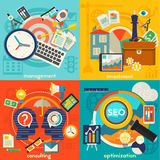 Freelance, Management, Consulting and Optimization Concept Stock Image