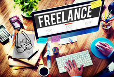Freelance Part time Outsources Job Employment Concept royalty free stock image