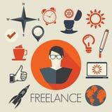 Freelance symbols Royalty Free Stock Images