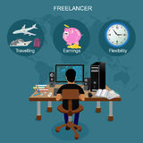Freelance vector illustration Stock Photography