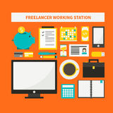 Freelance vector objects Stock Images