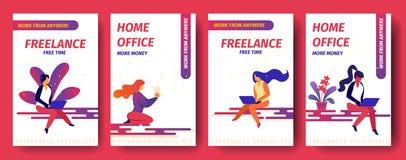 Freelance, Vrije tijd, Huisbureau Meer Geld, royalty-vrije illustratie