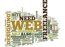 Freelance Web Design Text Background  Word Cloud Concept Royalty Free Stock Photo