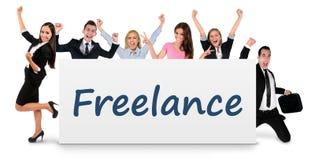 Freelance word on banner Stock Image