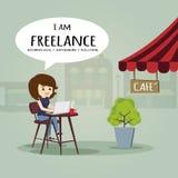 Freelance work anywhere and slow life. Stock Photos