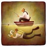 Freelance work metaphor Royalty Free Stock Images