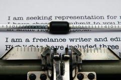 Freelance writer letter Royalty Free Stock Image