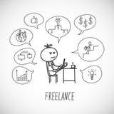 freelancer Fotografia Stock