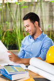 Architect working at home Royalty Free Stock Photography