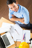 Architect working at home Stock Photos