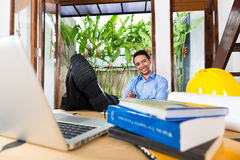 Architect working at home Stock Photo