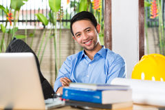 Architect working at home Royalty Free Stock Photo