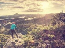 Freelancer create nature photos. Professional photographer royalty free stock image