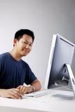 Freelancer em linha Fotos de Stock