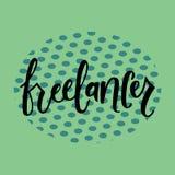 FREELANCER-hand bokstäver royaltyfri illustrationer