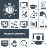 Freelancer Icons Black Royalty Free Stock Images