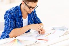 Freelancer involved in work Stock Photos