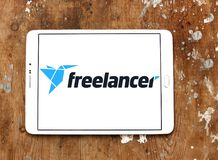 Freelancer marketplace website logo. Logo of Freelancer website on samsung tablet. Freelancer is a global crowdsourcing marketplace website, which allows royalty free stock photo