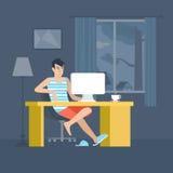 Freelancer miejsca pracy mieszkania ministerstwo spraw wewnętrznych freelance wektor royalty ilustracja