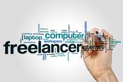 Freelancer słowa chmury pojęcie Fotografia Stock