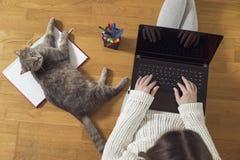 Freelancer work environment Stock Photography
