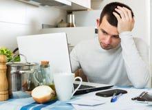 Freelancer working with laptop Stock Photos
