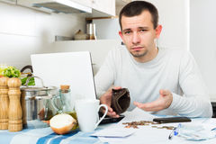 Freelancer working with laptop Royalty Free Stock Photo