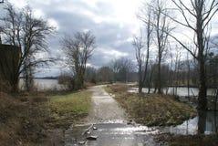 Freeman Lake olha bonito no inverno fotos de stock