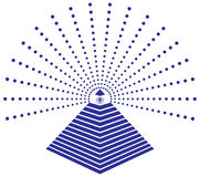 Illuminati Freemason Eye of Providence Illustration Stock Photo