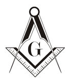 Freemason symbol Royalty Free Stock Photo