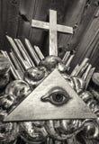 Freemason symbol Stock Photography