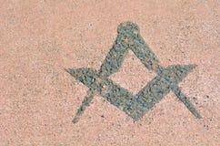 Freemasonry symbol Royalty Free Stock Photography