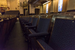 Freemasons Hall seats stock photography