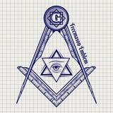 Freemasony tecken för bollpenna royaltyfri illustrationer