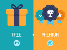 Freemium bedrijfsmodel stock illustratie