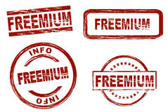 Freemium ink stamps Stock Images