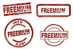 Freemium-Tintenstempel stock abbildung