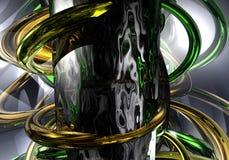freen złote pierścienie Fotografia Royalty Free