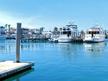 Freeport in BAHAMAS Island. Freeport leisure boat at dock royalty free stock photography
