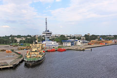 Freeport of Riga, Latvia Royalty Free Stock Photo