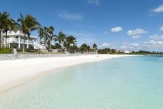 Freeport Town Beach. The empty Lucaya Beach in Freeport town on Grand Bahama island Stock Image