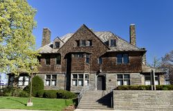 Freer House. This is a Spring picture of the Charles Lang Freer House located in Detroit, Michigan in Wayne County.  The house was designed by Wilson Eyre, it is Royalty Free Stock Photos