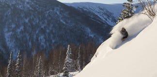 Freeride在西伯利亚 免版税图库摄影