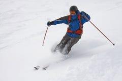 Freeride滑雪者 免版税库存图片