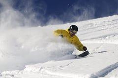 freeride滑雪者 免版税库存照片
