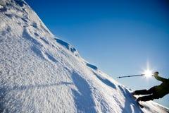 freeride滑雪 免版税库存照片