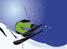 freeride滑雪 库存照片