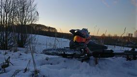 Freeride в снеге Стоковое Изображение RF